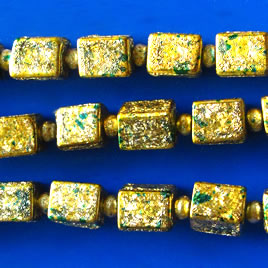 Bead, plated, gold, 6x7mm. Pkg of 23.